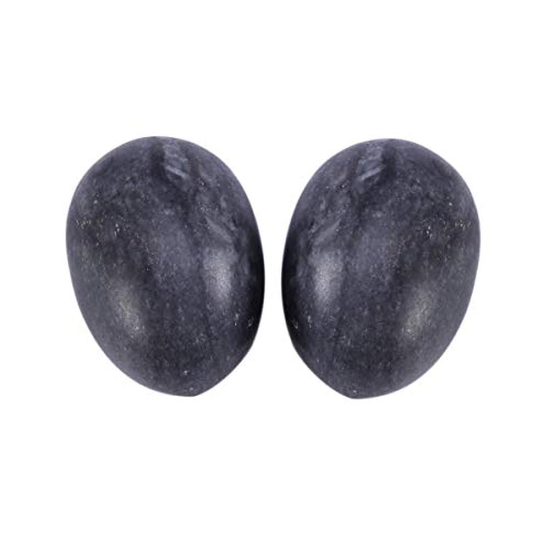 アルカイック召喚する活気づけるHealifty 6PCS翡翠Yoni卵マッサージ癒しの石のケゲル運動骨盤底筋運動(黒)