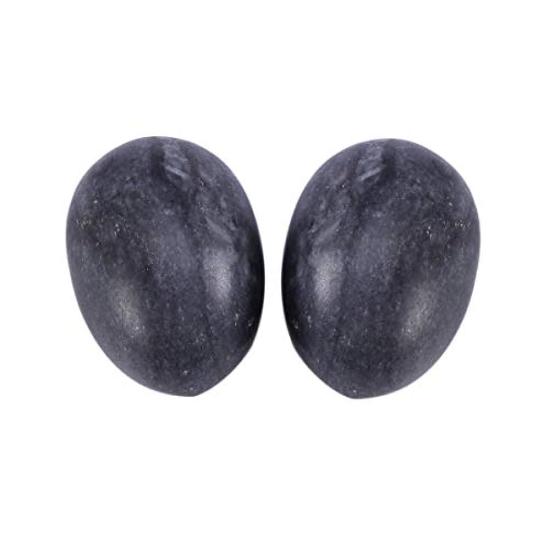 不安定祝うカストディアンHealifty 6PCS翡翠Yoni卵マッサージ癒しの石のケゲル運動骨盤底筋運動(黒)