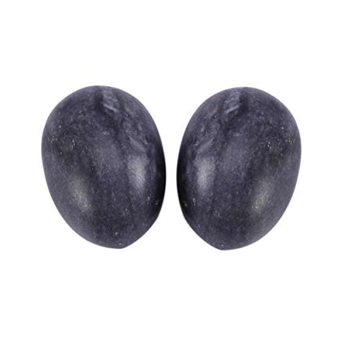 厳ツイン腸Healifty 6PCS翡翠Yoni卵マッサージ癒しの石のケゲル運動骨盤底筋運動(黒)