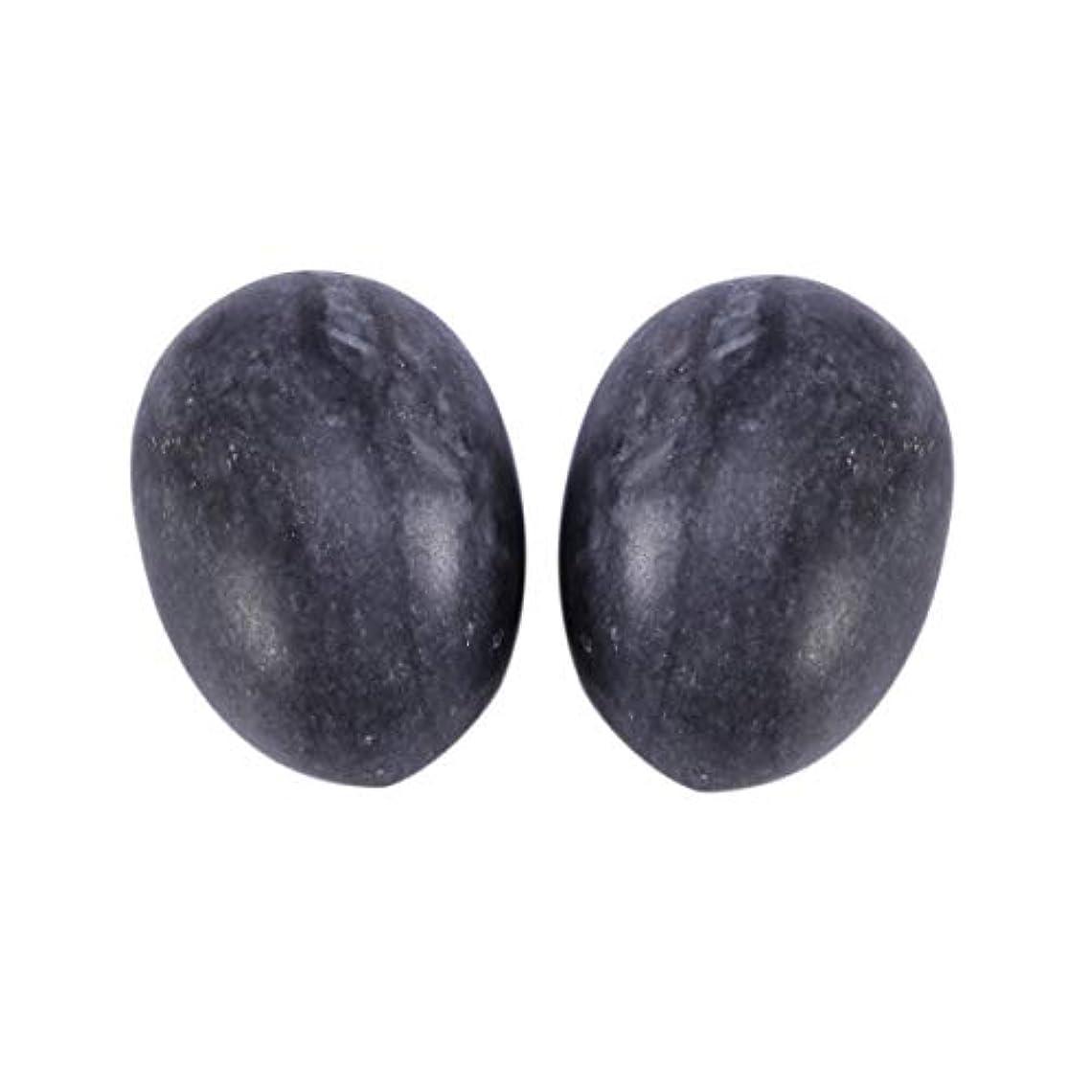 バナー訪問行くHealifty 6PCS翡翠Yoni卵マッサージ癒しの石のケゲル運動骨盤底筋運動(黒)