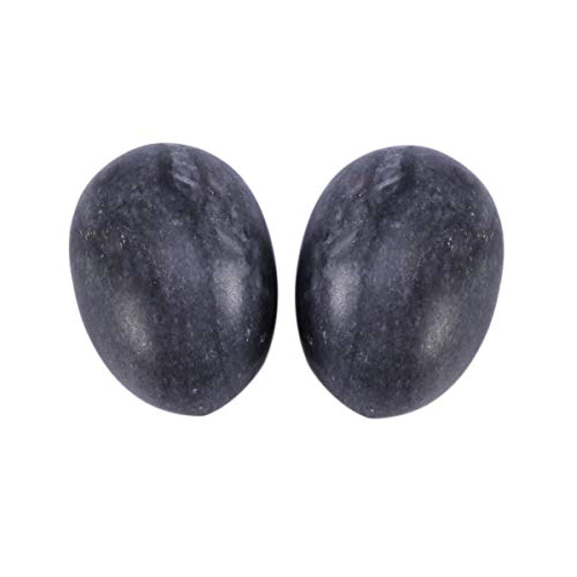 午後ところで摂氏Healifty 6PCS翡翠Yoni卵マッサージ癒しの石のケゲル運動骨盤底筋運動(黒)