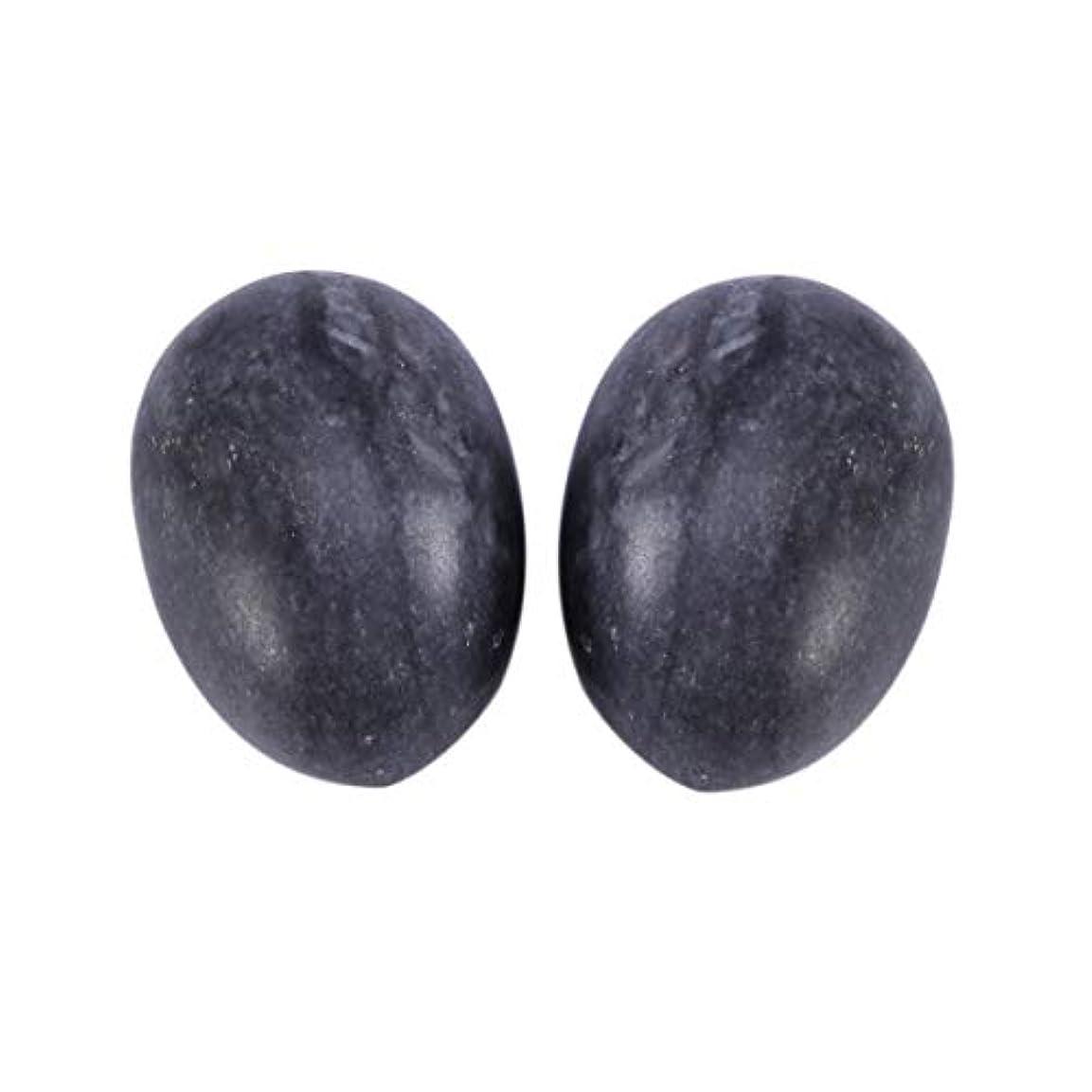 ゲートウェイブリード凍るSUPVOX 6本ネフライトジェイドヨニエッグジェイドヨニマッサージストーンチャクラ骨盤筋肉癒しの卵マッサージケゲルエクササイズ(ブラックブルージェイドエッグ)