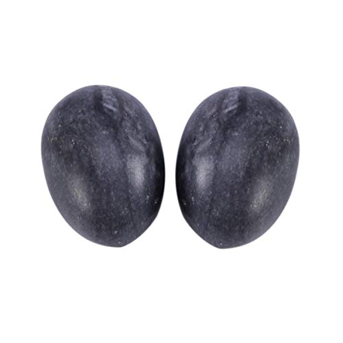 学習動物平手打ちHealifty 6PCS翡翠Yoni卵マッサージ癒しの石のケゲル運動骨盤底筋運動(黒)
