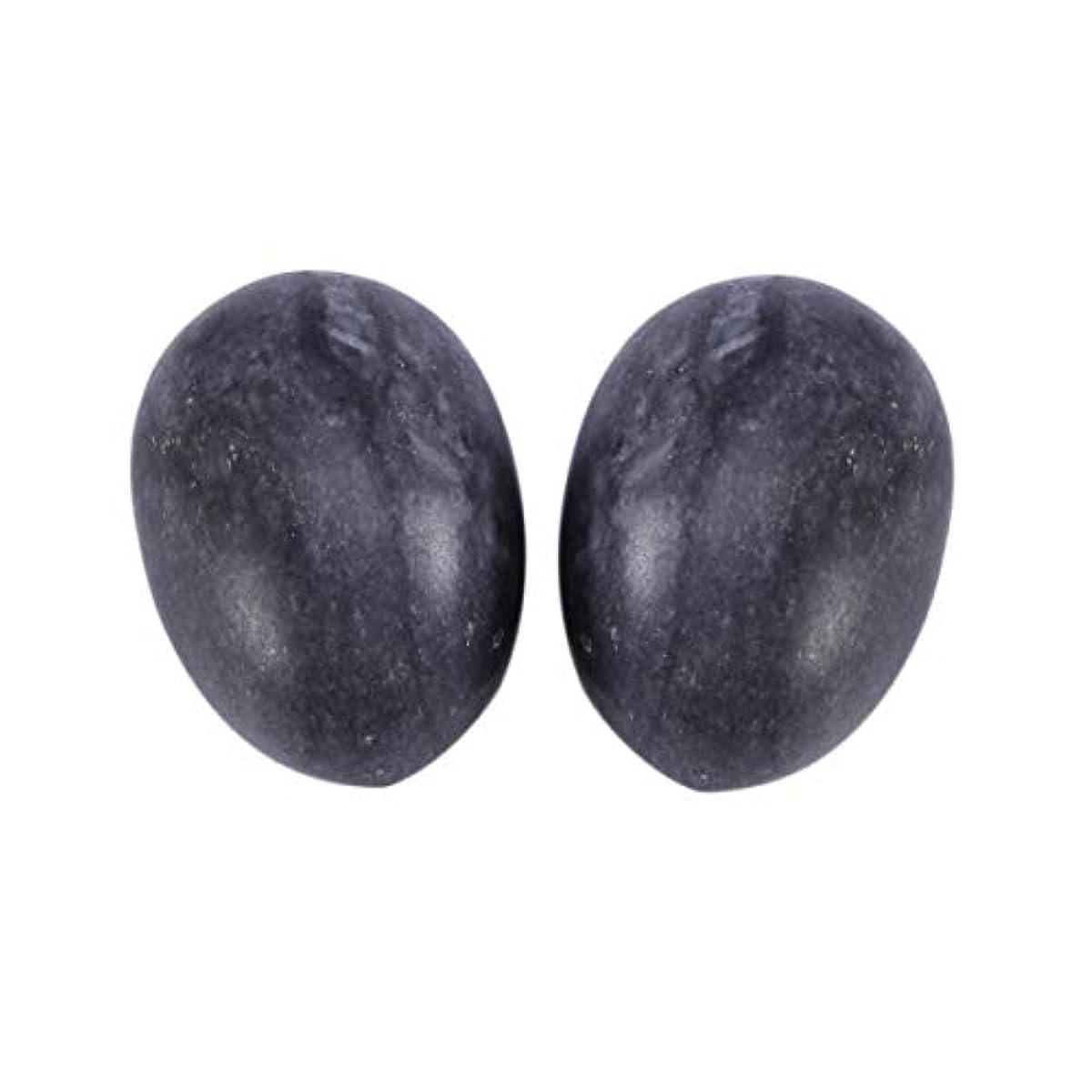 挑む乳白窓Healifty 6PCS翡翠Yoni卵マッサージ癒しの石のケゲル運動骨盤底筋運動(黒)