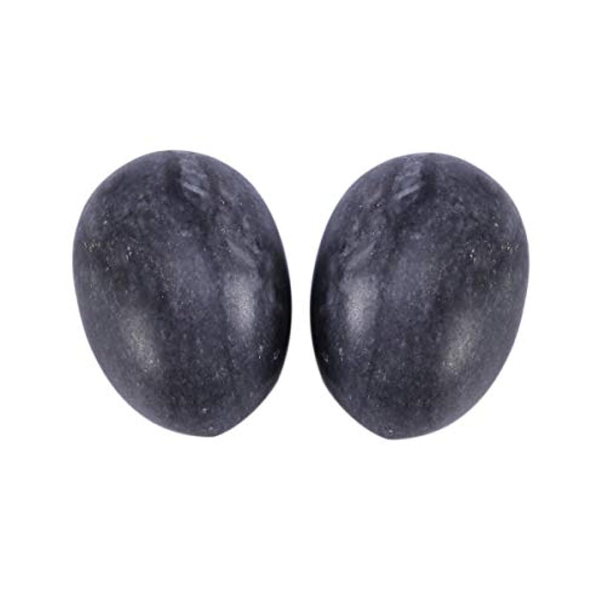 妨げるキャリッジ文言Healifty 6PCS翡翠Yoni卵マッサージ癒しの石のケゲル運動骨盤底筋運動(黒)