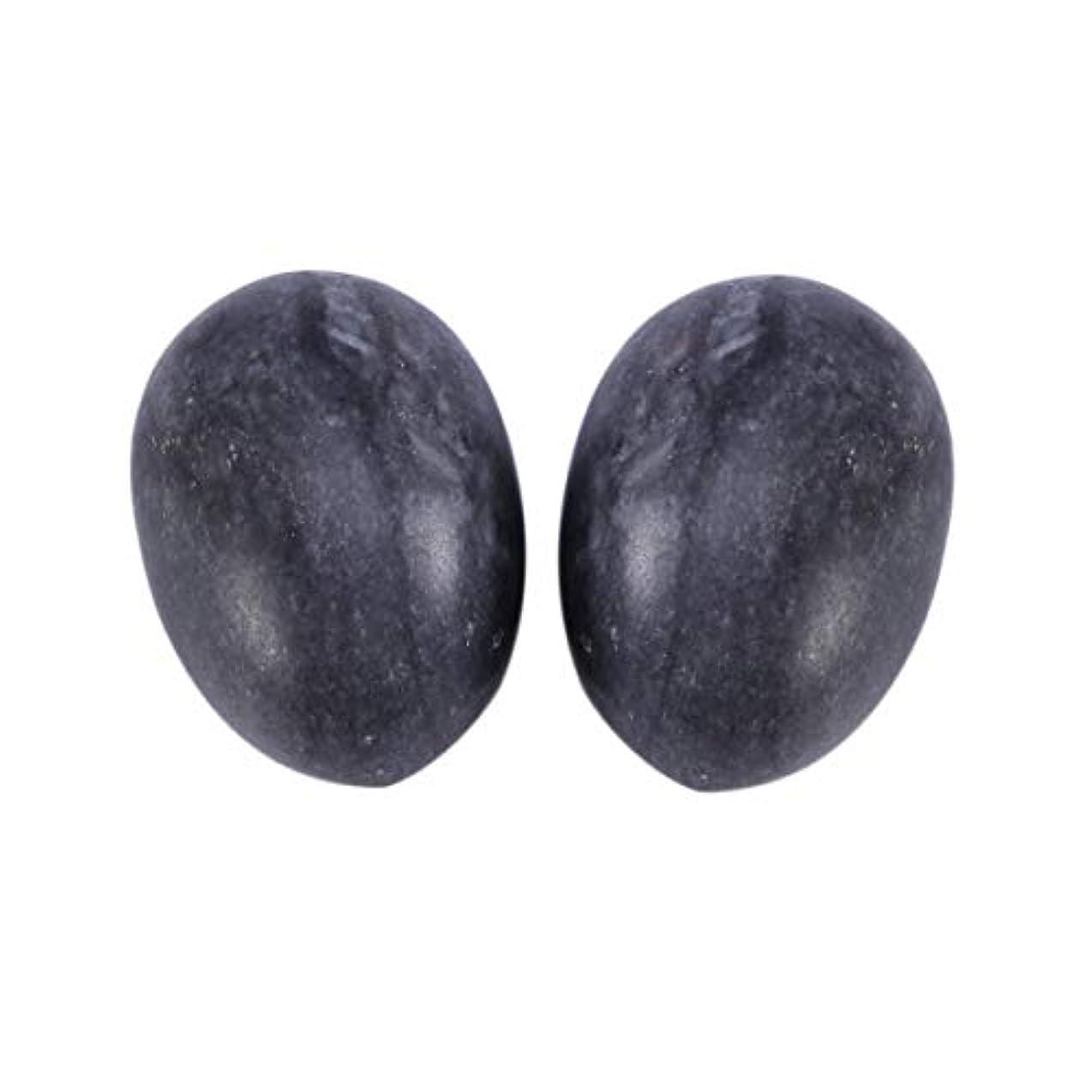 ピンチ女王であることHealifty 6PCS翡翠Yoni卵マッサージ癒しの石のケゲル運動骨盤底筋運動(黒)