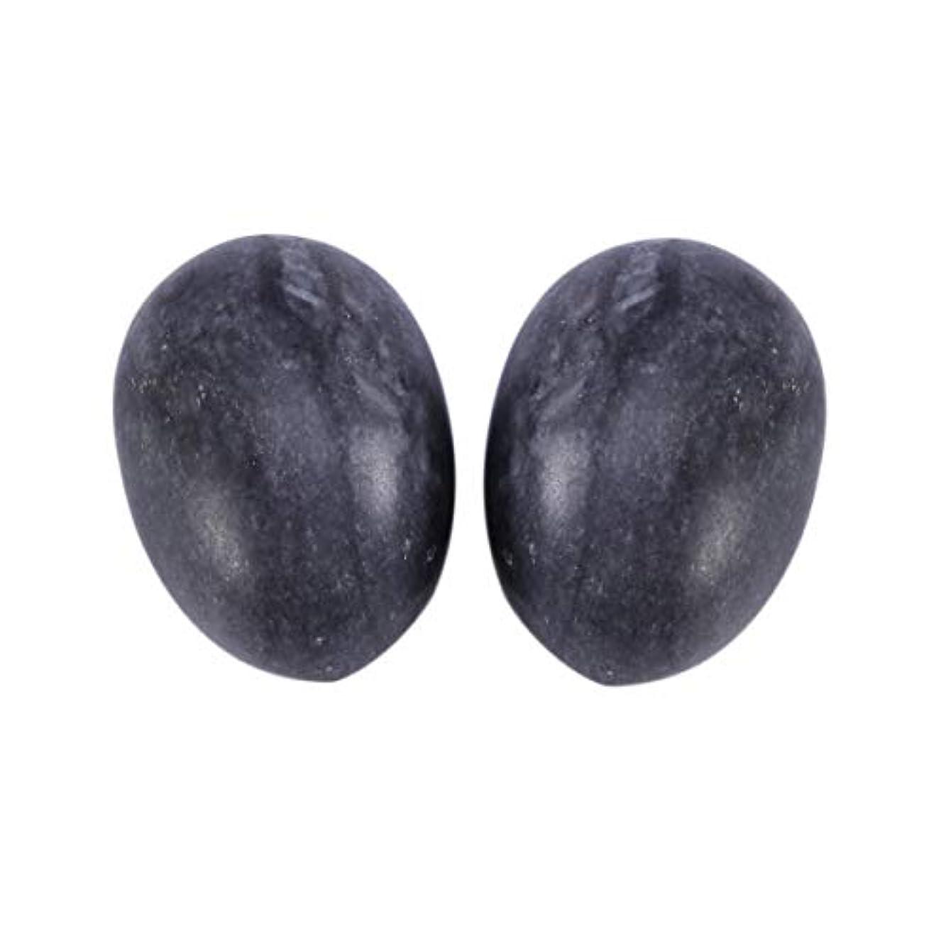 Healifty 6PCS翡翠Yoni卵マッサージ癒しの石のケゲル運動骨盤底筋運動(黒)