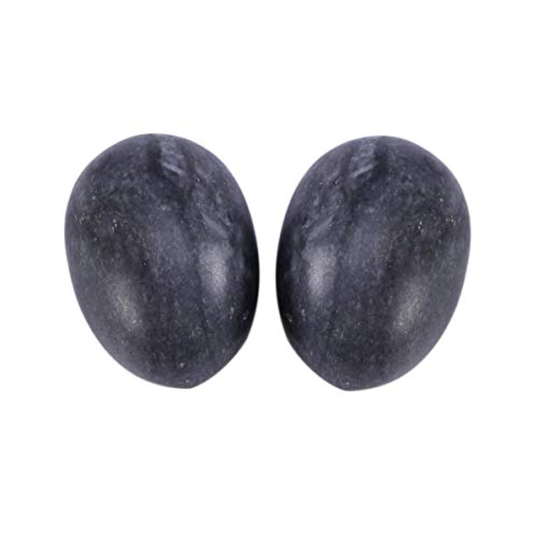 衝突南方の攻撃的Healifty 6PCS翡翠Yoni卵マッサージ癒しの石のケゲル運動骨盤底筋運動(黒)