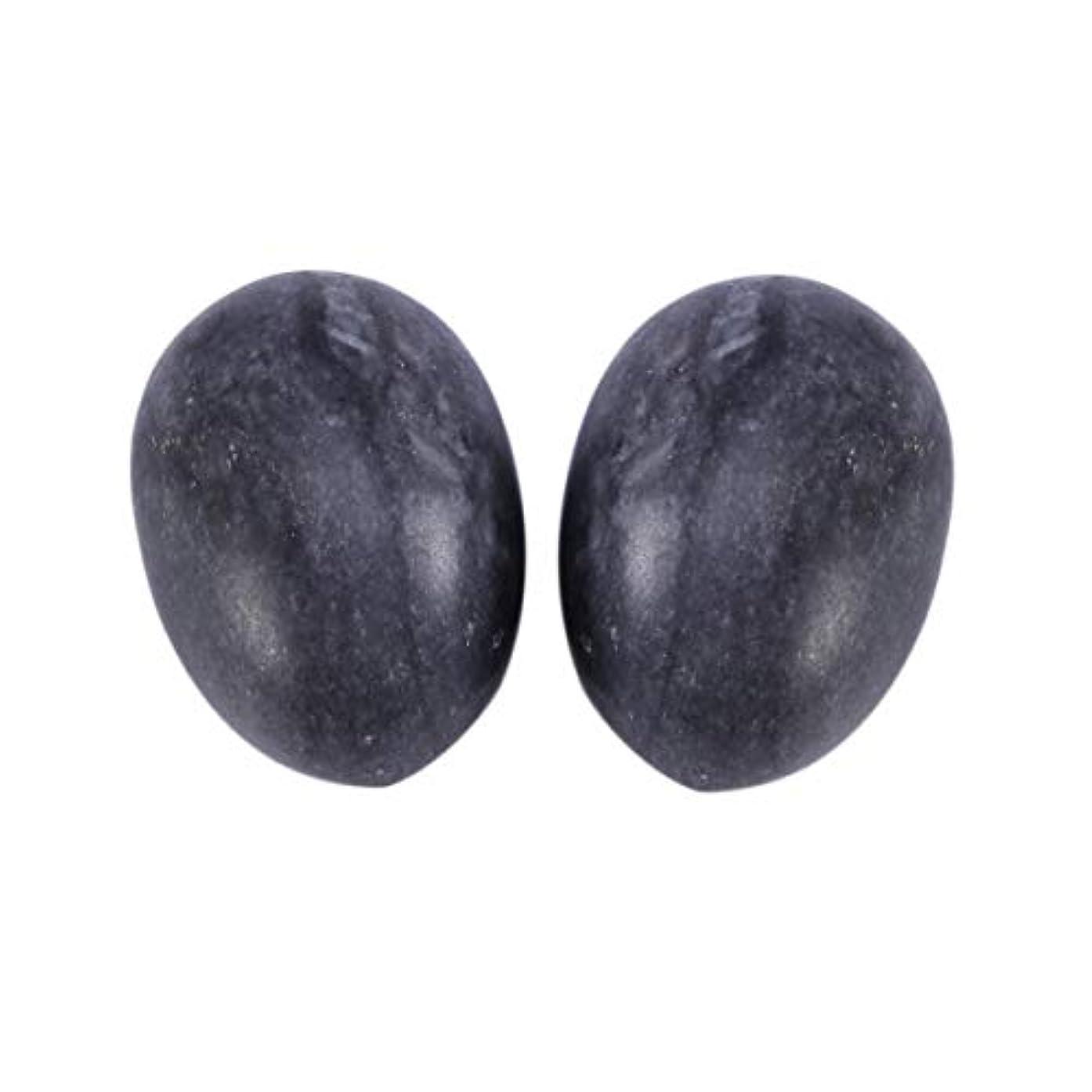 推進ゴム労苦Healifty 6PCS翡翠Yoni卵マッサージ癒しの石のケゲル運動骨盤底筋運動(黒)