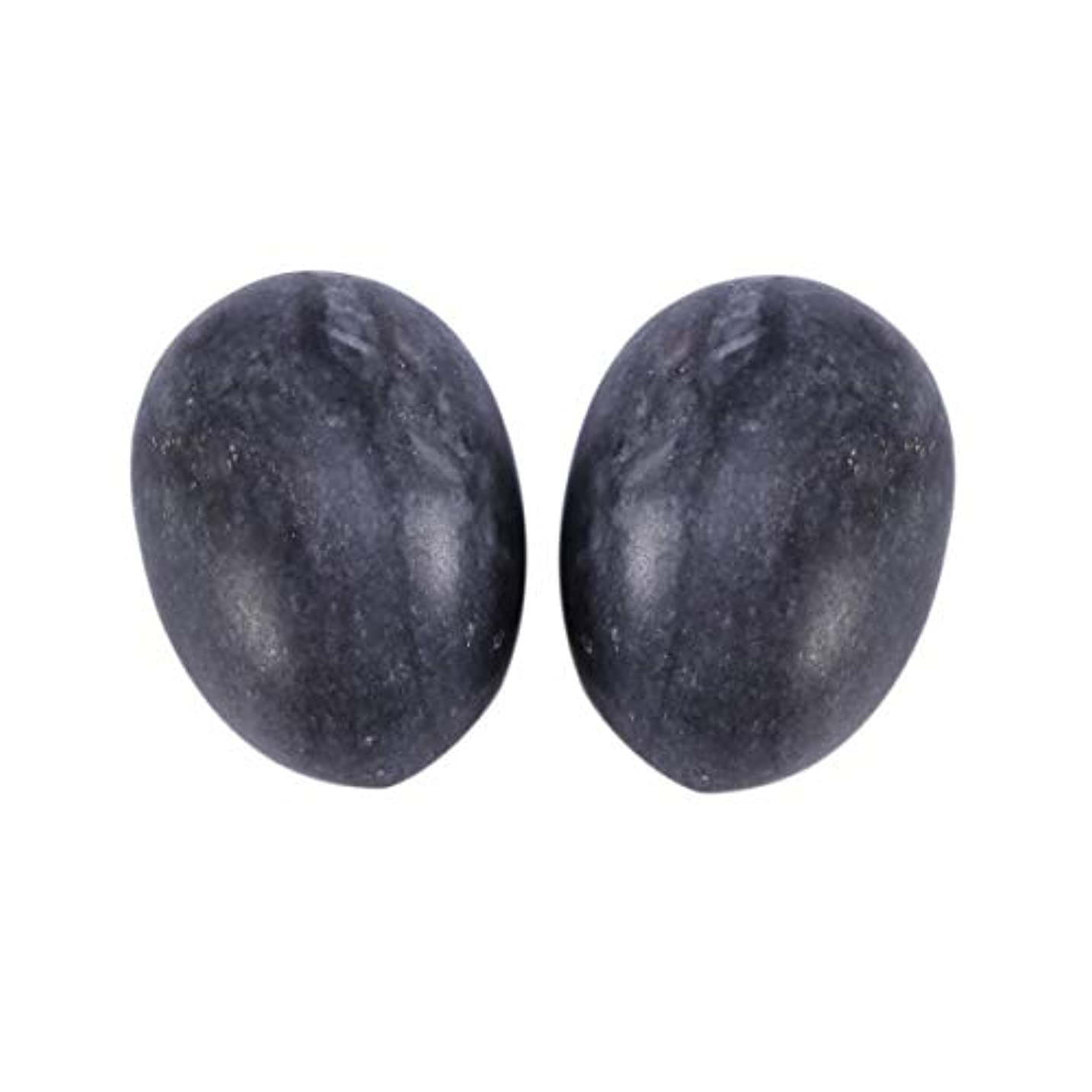 上がる浅いアクセルSUPVOX 6本ネフライトジェイドヨニエッグジェイドヨニマッサージストーンチャクラ骨盤筋肉癒しの卵マッサージケゲルエクササイズ(ブラックブルージェイドエッグ)