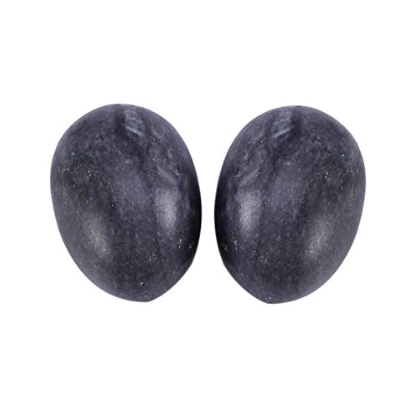 上昇バスタブ後継Healifty 6PCS翡翠Yoni卵マッサージ癒しの石のケゲル運動骨盤底筋運動(黒)