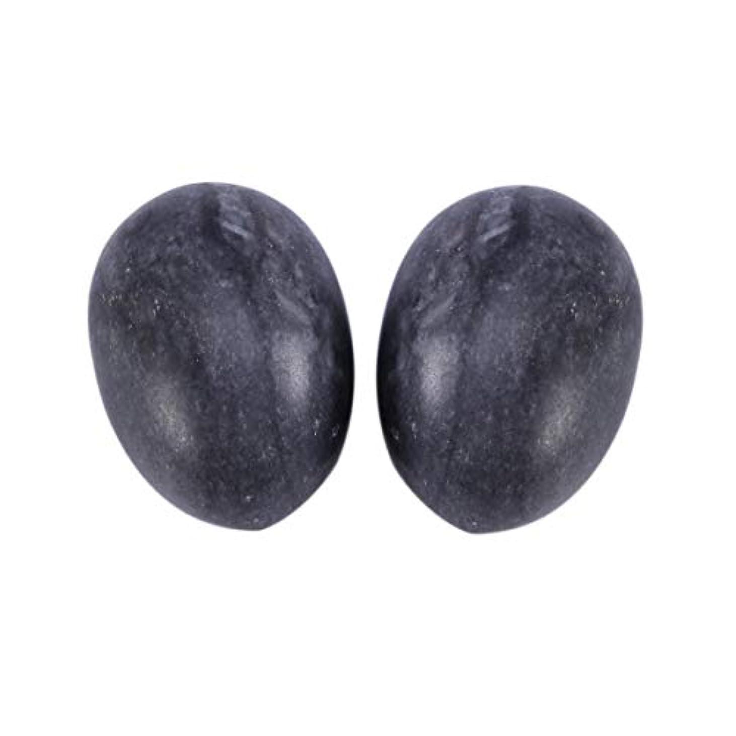 共和国カップルシングルHealifty 6PCS翡翠Yoni卵マッサージ癒しの石のケゲル運動骨盤底筋運動(黒)