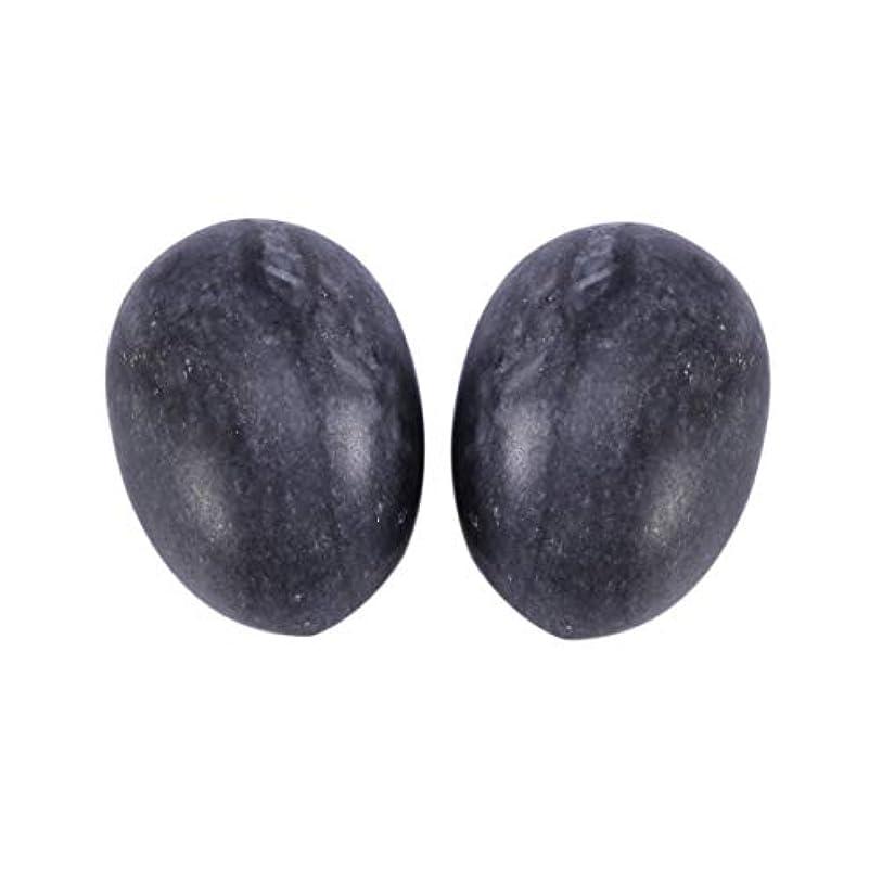 同時方程式でるHealifty 6PCS翡翠Yoni卵マッサージ癒しの石のケゲル運動骨盤底筋運動(黒)