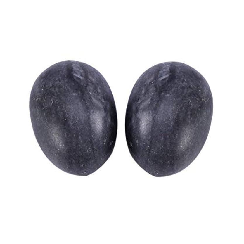 ストレス極端な男らしいHealifty 6PCS翡翠Yoni卵マッサージ癒しの石のケゲル運動骨盤底筋運動(黒)