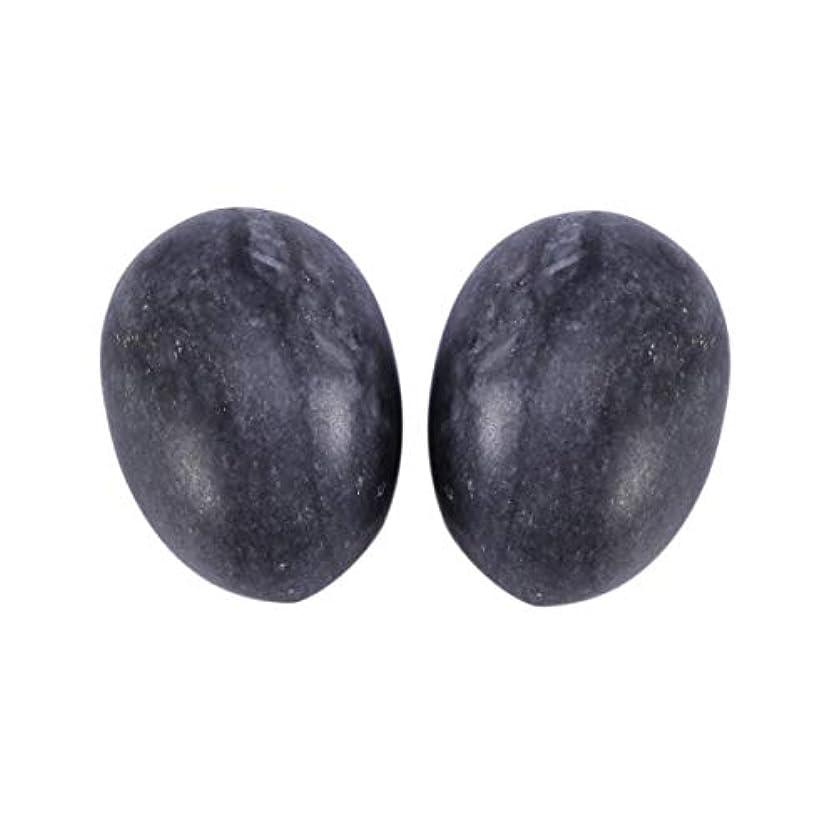 ダルセット請求可能ミュウミュウSUPVOX 6本ネフライトジェイドヨニエッグジェイドヨニマッサージストーンチャクラ骨盤筋肉癒しの卵マッサージケゲルエクササイズ(ブラックブルージェイドエッグ)