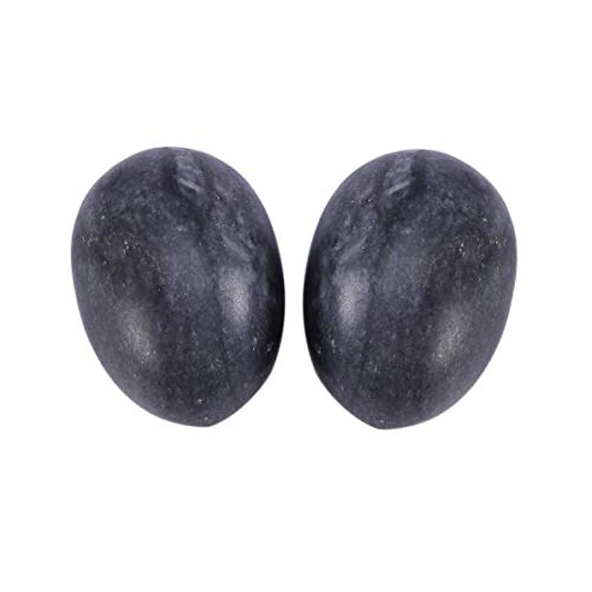 ノイズメドレーランチHealifty 6PCS翡翠Yoni卵マッサージ癒しの石のケゲル運動骨盤底筋運動(黒)