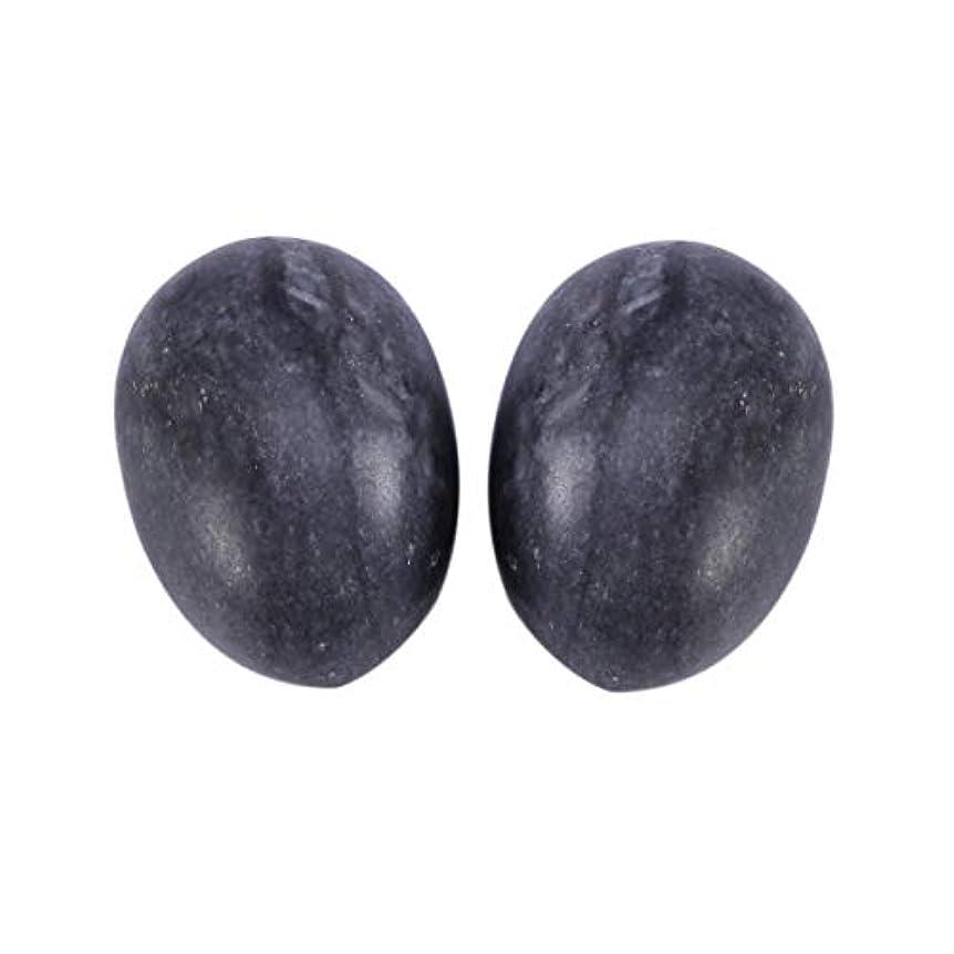 しょっぱいダルセットスペードSUPVOX 6本ネフライトジェイドヨニエッグジェイドヨニマッサージストーンチャクラ骨盤筋肉癒しの卵マッサージケゲルエクササイズ(ブラックブルージェイドエッグ)