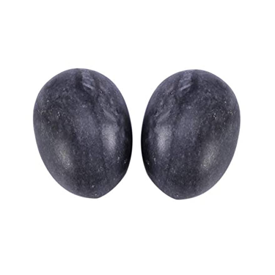 ごみ反動獲物Healifty 妊娠中の女性のためのマッサージボール6個玉ヨードエッグ骨盤底筋マッサージ運動膣締め付けボールヘルスケア(ブラックブルー)