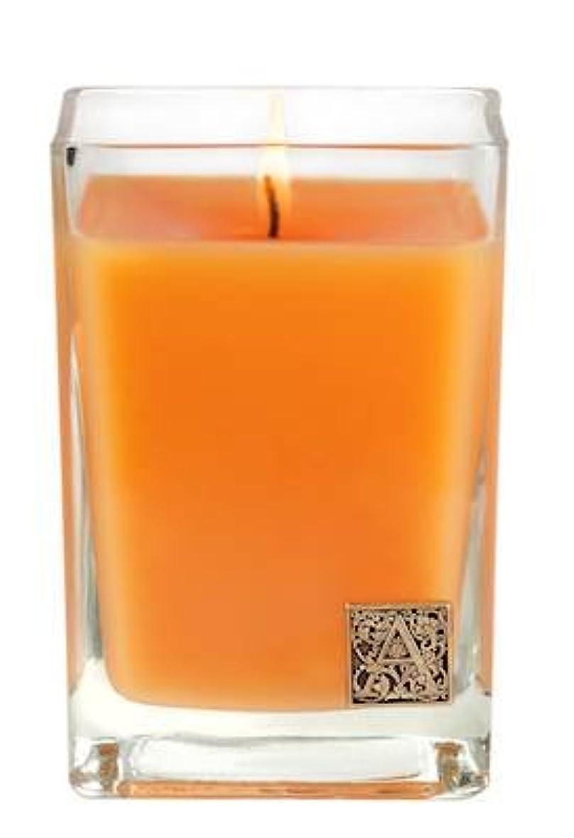 ちょっと待って外側単語バレンシアオレンジ中ガラスキューブCandle by Aromatique