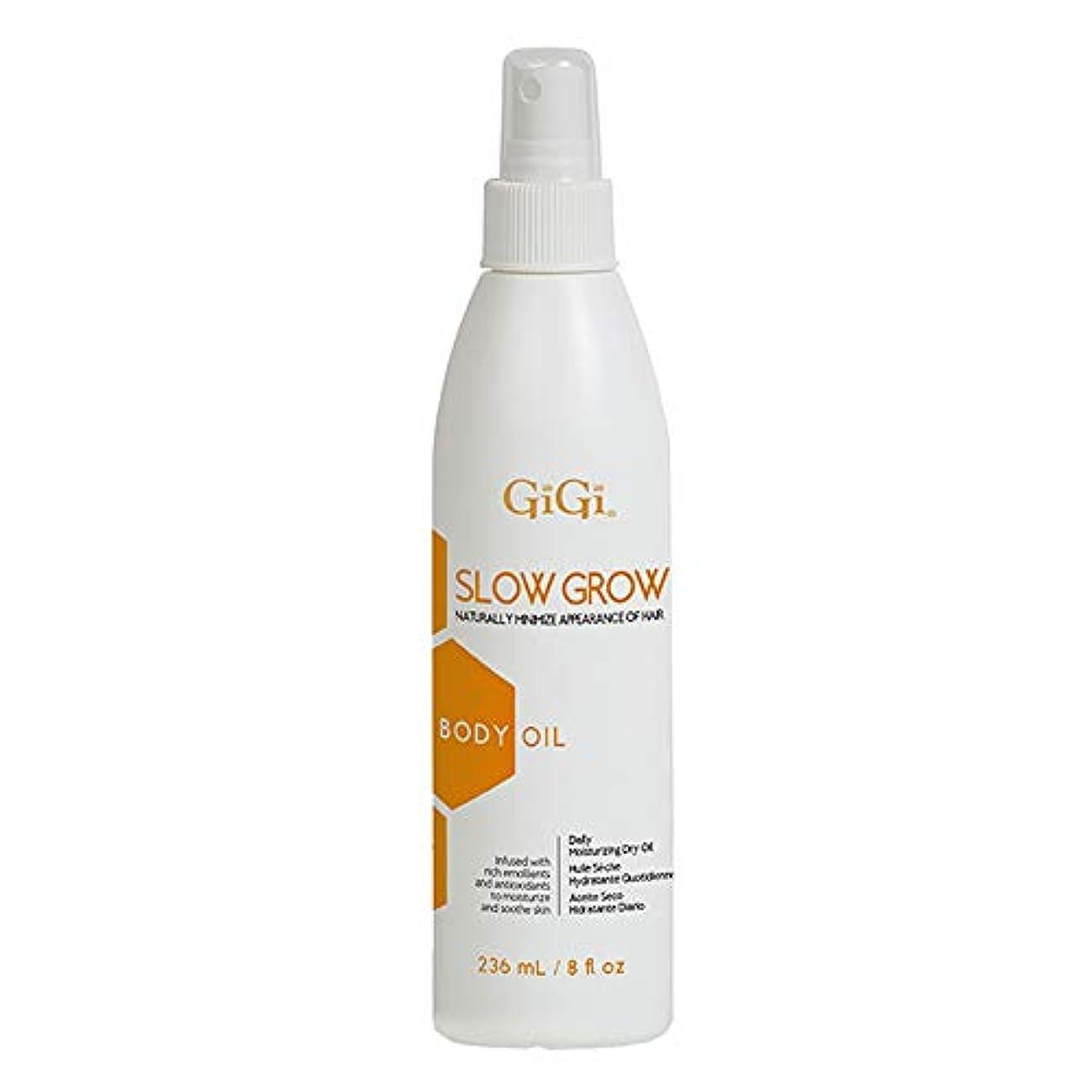 GiGi スロー8オンス、不要な発毛を遅らせる助けるためにデイリーモイスチャライジングドライボディオイルを成長させます 8オンス