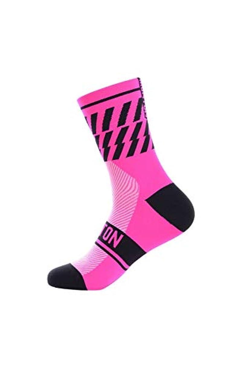 暗黙高尚な救出Monton[モントン]サイクリングソックス[Twenデザイン/ピンク]フリーサイズ自転車用靴下