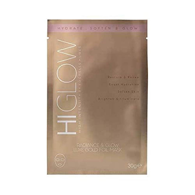 塊急速な動[HIGlow] 高強度の輝きをHiglow&デラックス金箔Mask30Gグロー - HIGlow High Intensity Radiance & Glow Luxe Gold Foil Mask30g [並行輸入品]