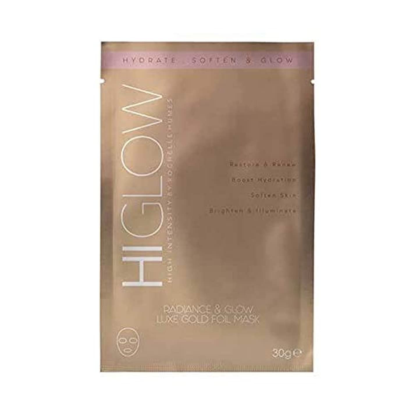 シビック流星相対性理論[HIGlow] 高強度の輝きをHiglow&デラックス金箔Mask30Gグロー - HIGlow High Intensity Radiance & Glow Luxe Gold Foil Mask30g [並行輸入品]