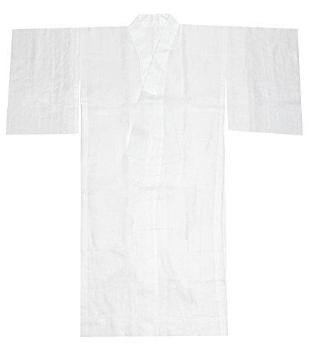 [キョウエツ] 長襦袢 夏用 洗える 無地 本麻 半襟 衣紋抜き レディース (M, 白(衣紋抜き無し))