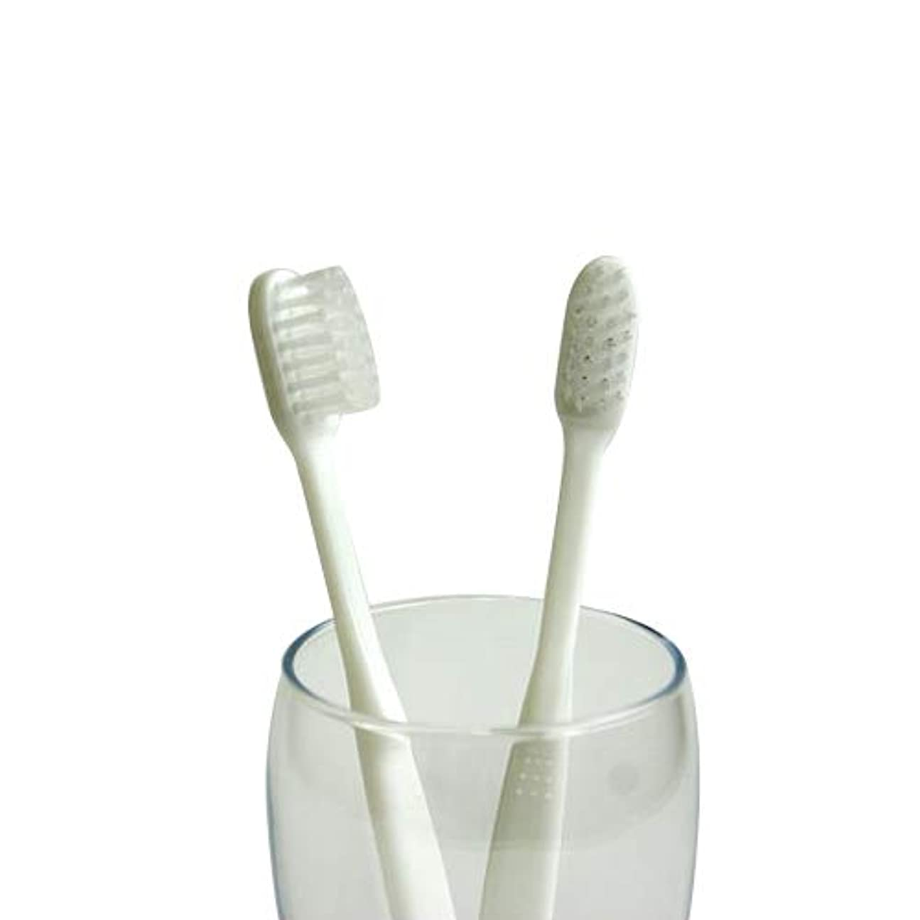 アンデス山脈ヘッドレス誰も業務用使い捨て歯ブラシ(ハミガキ粉無し) 500本入り│口腔衛生用 清掃用 掃除用 工業用 ハブラシ はぶらし