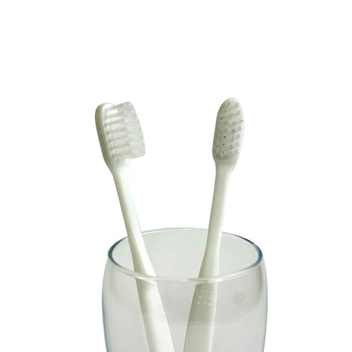 ロープ生理電信業務用使い捨て歯ブラシ(ハミガキ粉無し) 100本入り│口腔衛生用 清掃用 掃除用 工業用 ハブラシ はぶらし