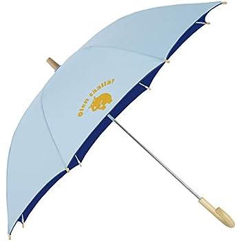 小川(Ogawa) キッズ長傘 手開き 晴雨兼用日傘 45cm クッカヒッポ サックス UV加工 遮熱遮光加工 反射プリント付 83223