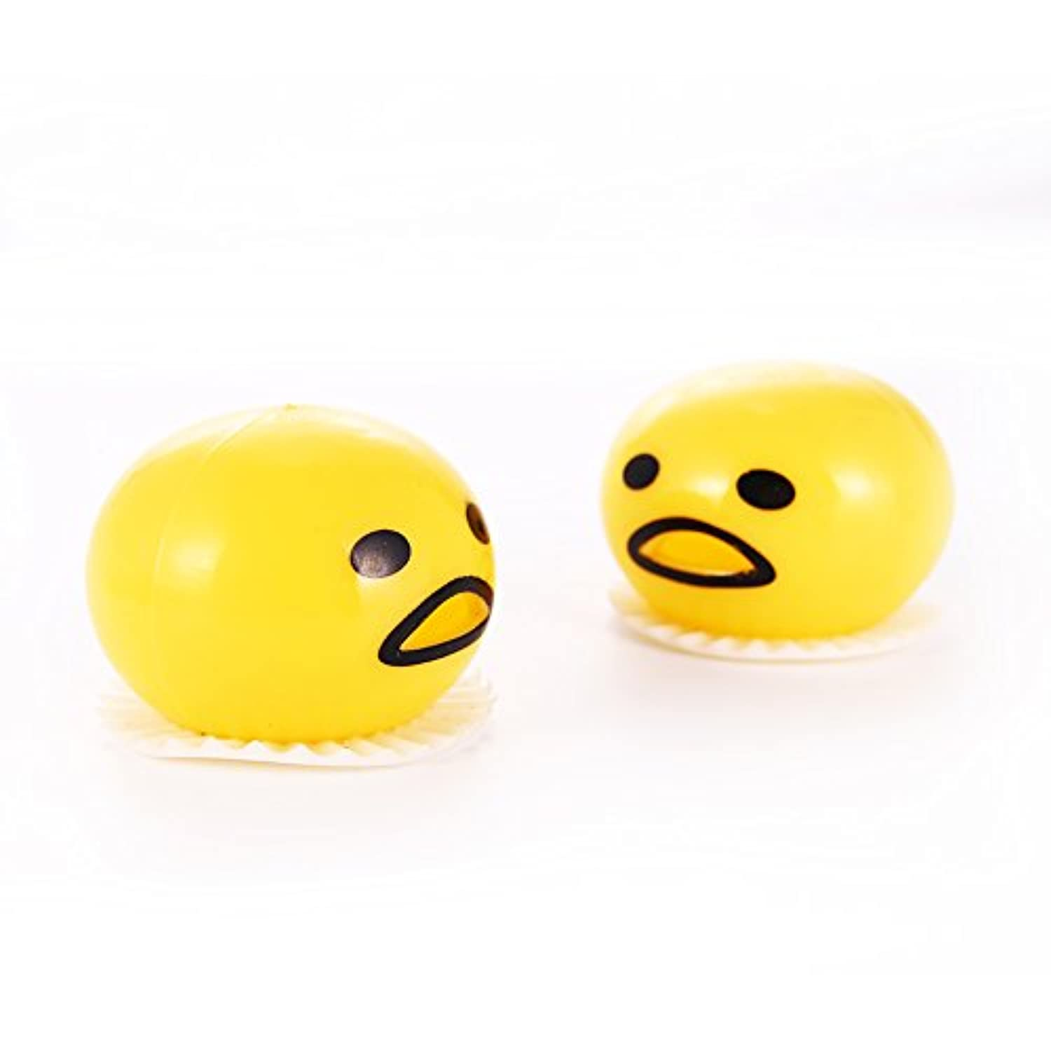 [Acefun]Acefun 24 Pieces Vomiting & Sucking Lazy Egg Yolk Vent Tricky Gag Toy Stress Relief Toys MX-TO2122U9VNY9-224 [並行輸入品]