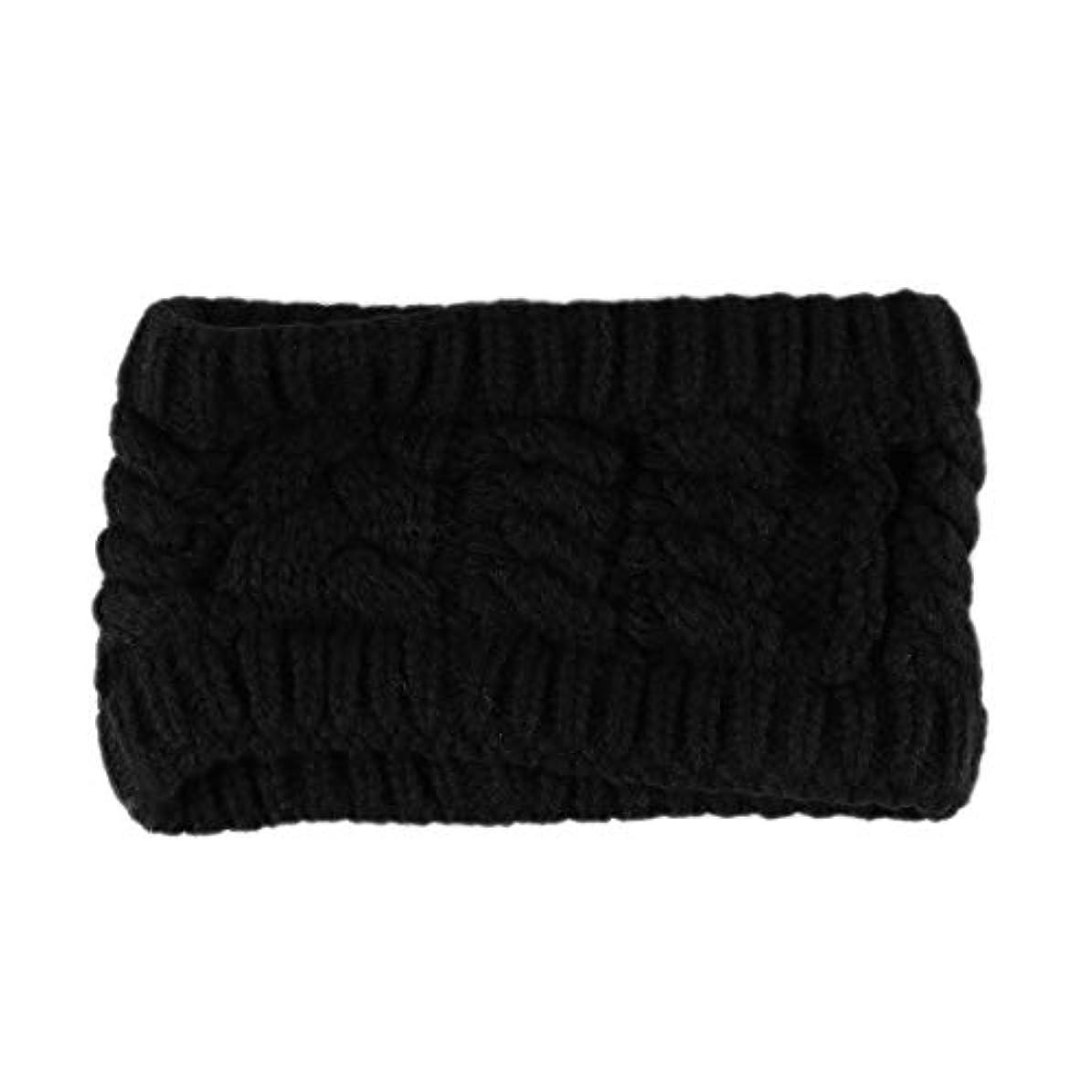 ラリー娘蒸留手作りの編み織りの髪のバンドヘッドバンド女性と女の子のためのヘアアクセサリー(ブラック)