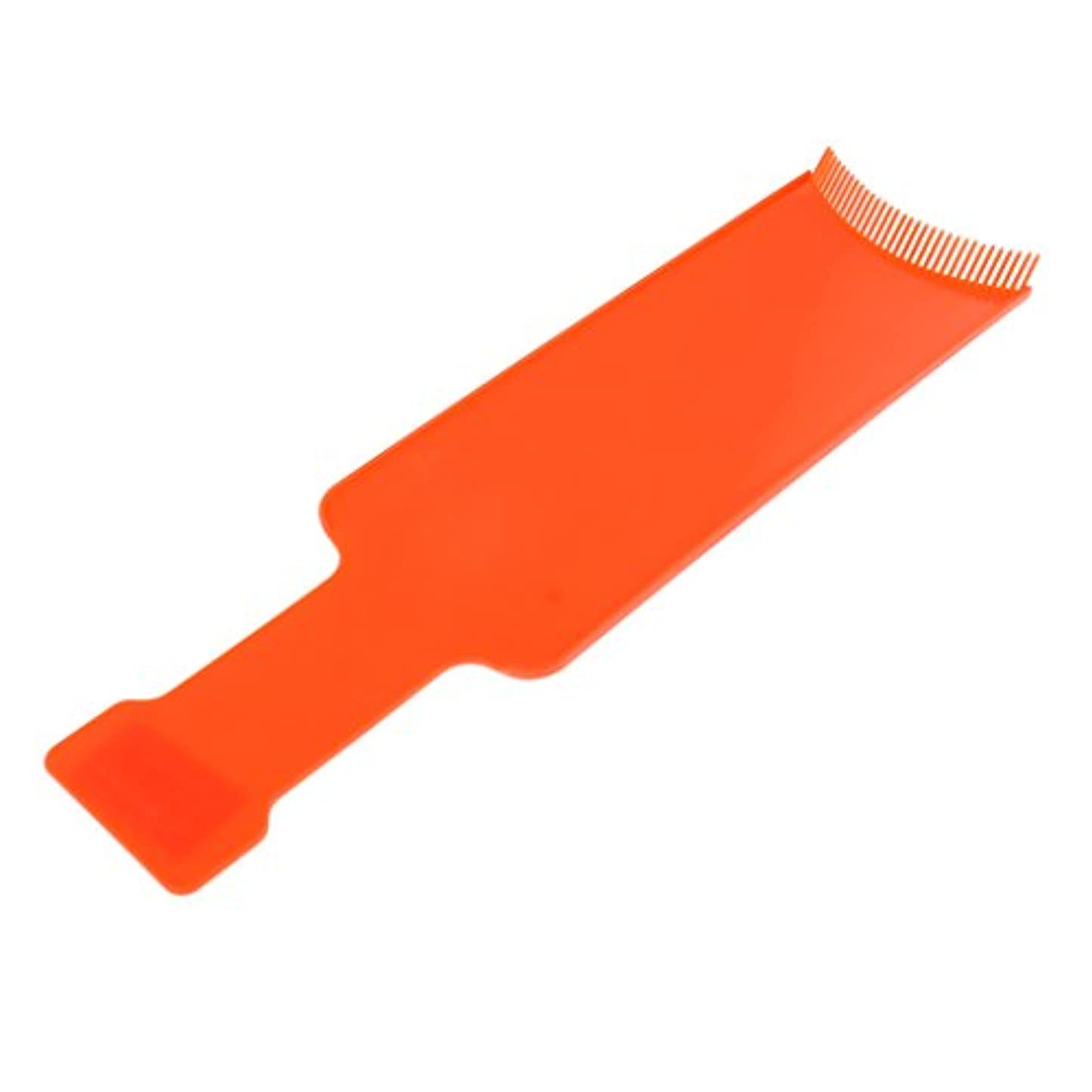 意気揚々蒸し器テロT TOOYFUL プロフェッショナル理髪染めボード着色ブラシ色合いくしツール - オレンジ, L