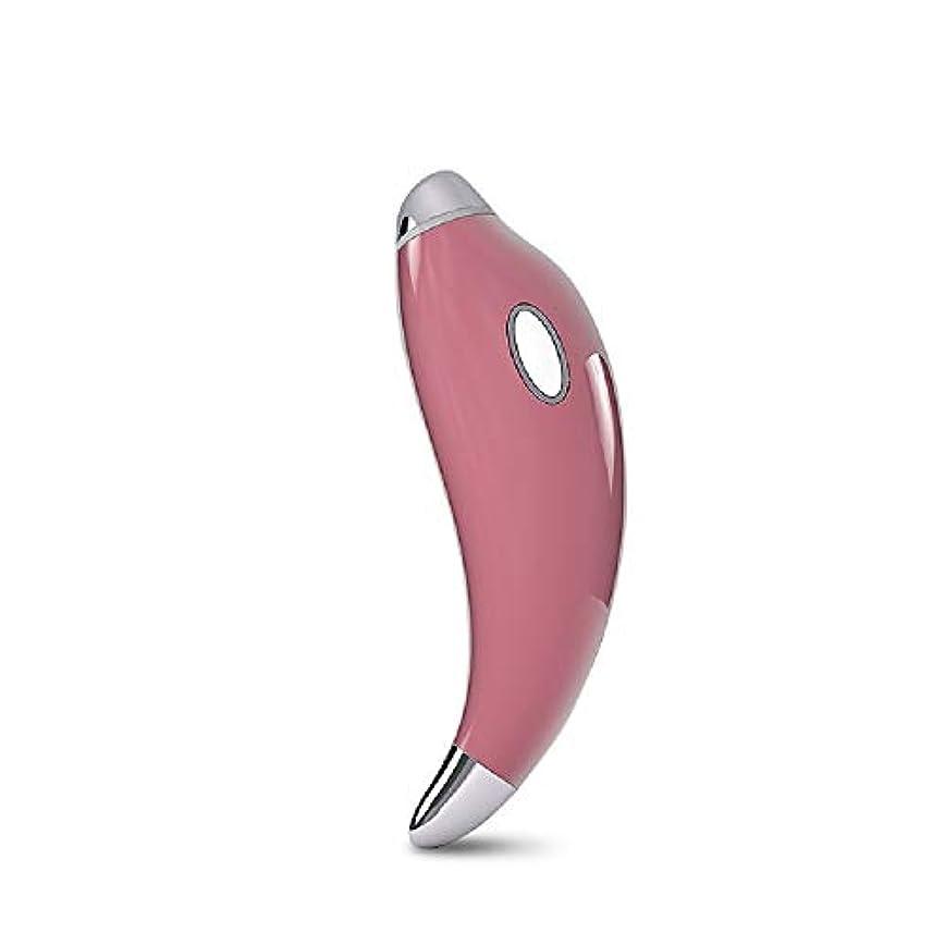 城精通したポークGf ファッショントレンド高度なインテリジェントホットマジックワンド、しわ防止イオンイオントリートメントアイマッサージスティック 購入へようこそ (Color : Pink)