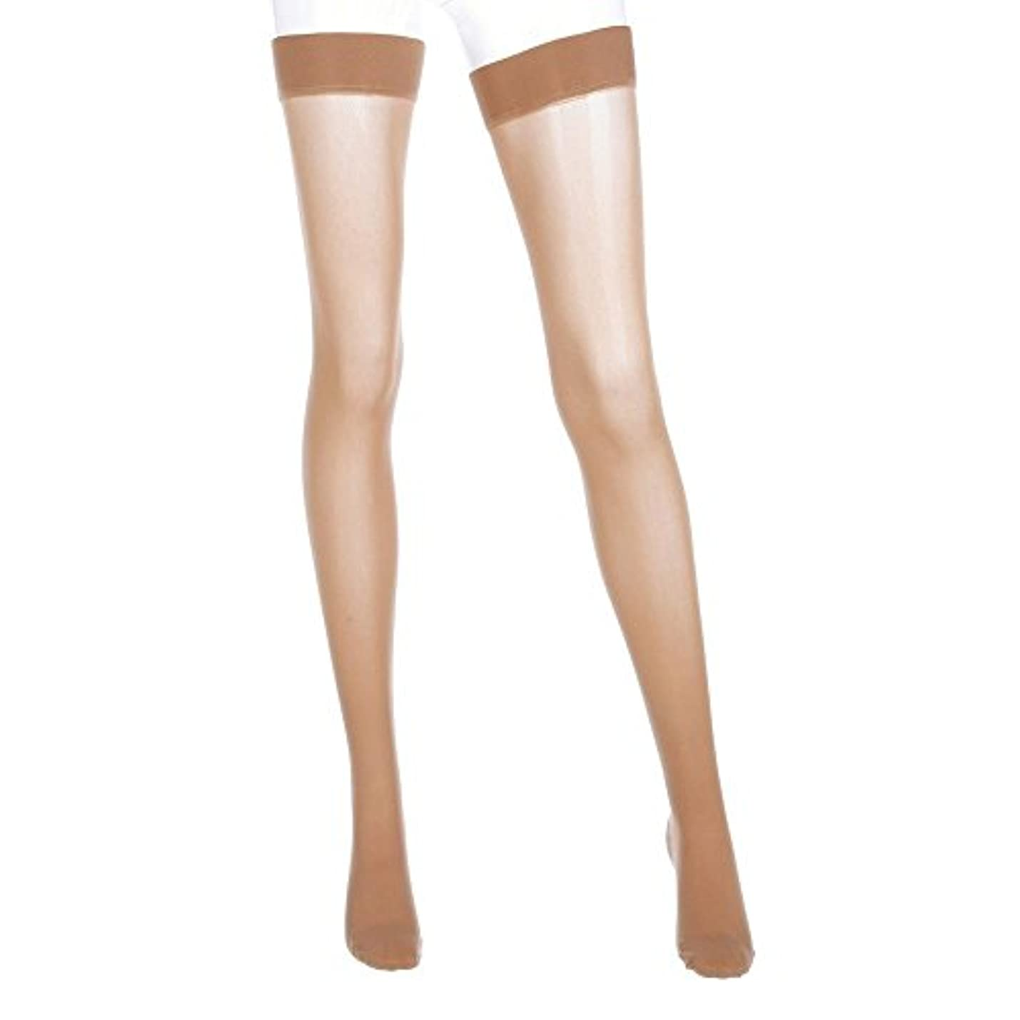 家庭教師風が強いデモンストレーションMediven Assure, Closed Toe, with top band, 20-30 mmHg, Thigh High Compression Stocking, X-Large, Beige by Medi