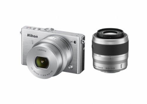 Nikon ミラーレス一眼 Nikon1 J4 ダブルズームキット シルバー J4WZSL