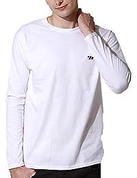 J.STORE (ジェイストア) ロングTシャツ メンズ 長袖 ワンポイント 刺繍 クルーネック シンプル Tシャツ ロンT