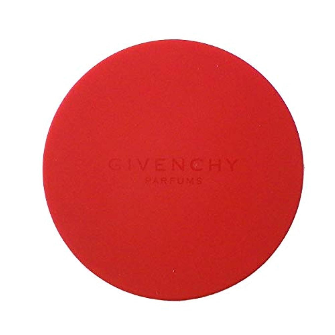 メタン逆木製(ジバンシー) GIVENCHY スライドミラー 鏡 赤 レッド ロゴ コンパクト ミニ 小さめ カバー ラバー 携帯用 化粧 メイク コスメ 海外限定