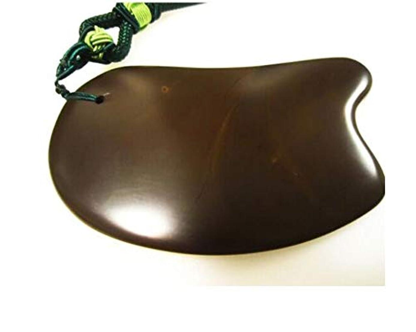 敬礼知っているに立ち寄る合意Fengshangshanghang ボディ?フェイシャルSPA鍼治療トリガーポイントの治療のためにスクラッチマッサージツール、5A自然オウゴンスクレイピング会 ,テクスチャー (Color : Brown, Size : 12*6.5*1cm)