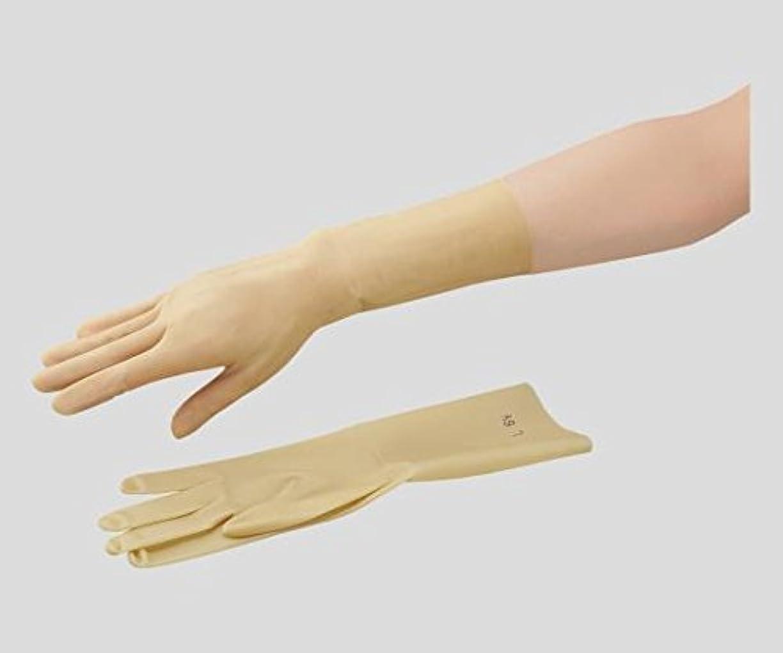 ヘア小麦粉方向東和コーポレーション2-8705-01ラテックス手袋15-6.5