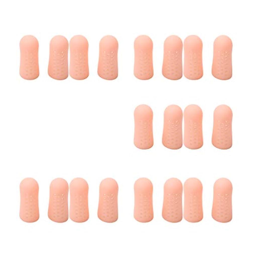 牧師マウントダルセットdailymall 20個の指のつま先チューブスリーブプロテクターキャップセパレーターの痛みを軽減