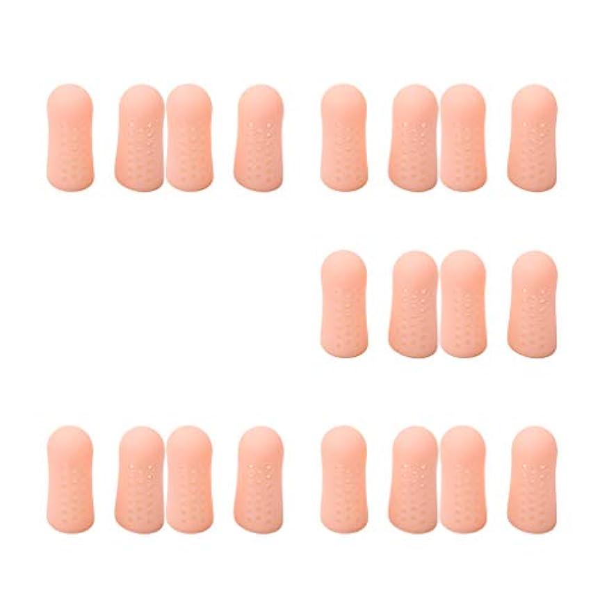 作動するアルネ保険をかけるdailymall 20個の指のつま先チューブスリーブプロテクターキャップセパレーターの痛みを軽減