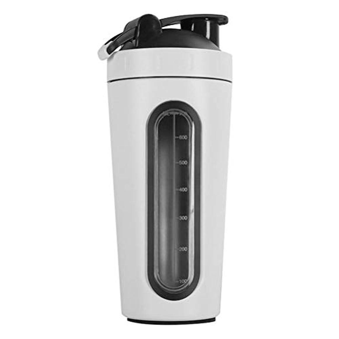 名詞環境飛行機Erose-BD 2019新型 304ステンレスプロテインシェイカーボトル プロテインシェイカー シェイカー ボトル 水筒 ウォーターボトル (800ml) 1個 白