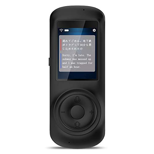 VORMOR MINITALK T2S(ボルモル ミニトーク T2S) 世界70言語 186ヵ国対応 双方向瞬時音声翻訳機 オンライン式 音声通訳機 翻訳機 中国語 英語翻訳 (ブラック)