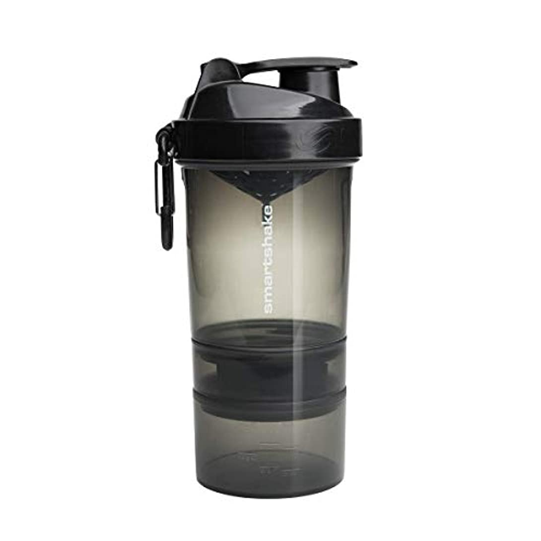 信者シャープ真鍮SmartShake ORIGINAL2GO 600ML - GUNSMOKE BLACK by smartshake