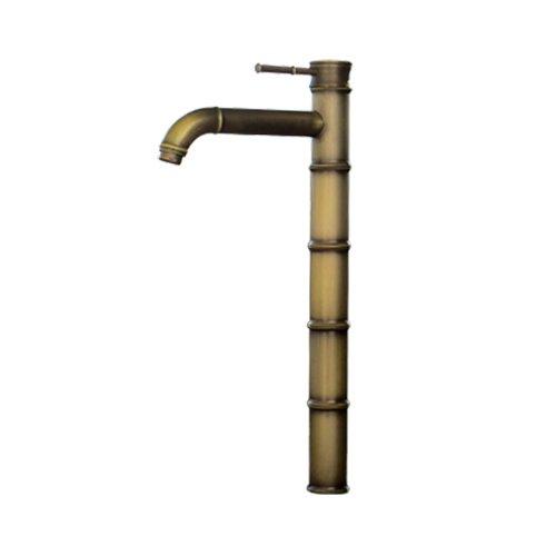 蛇口 混合水栓 シングルレバーハンドル バンブー ブロンズ(古銅) 奥行22.5×吐水口高35.5cm INK-0303119H