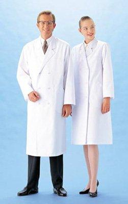 白衣 男性用 診察衣 ドクター ダブル S-5L 医療 サンペックスMR115 L