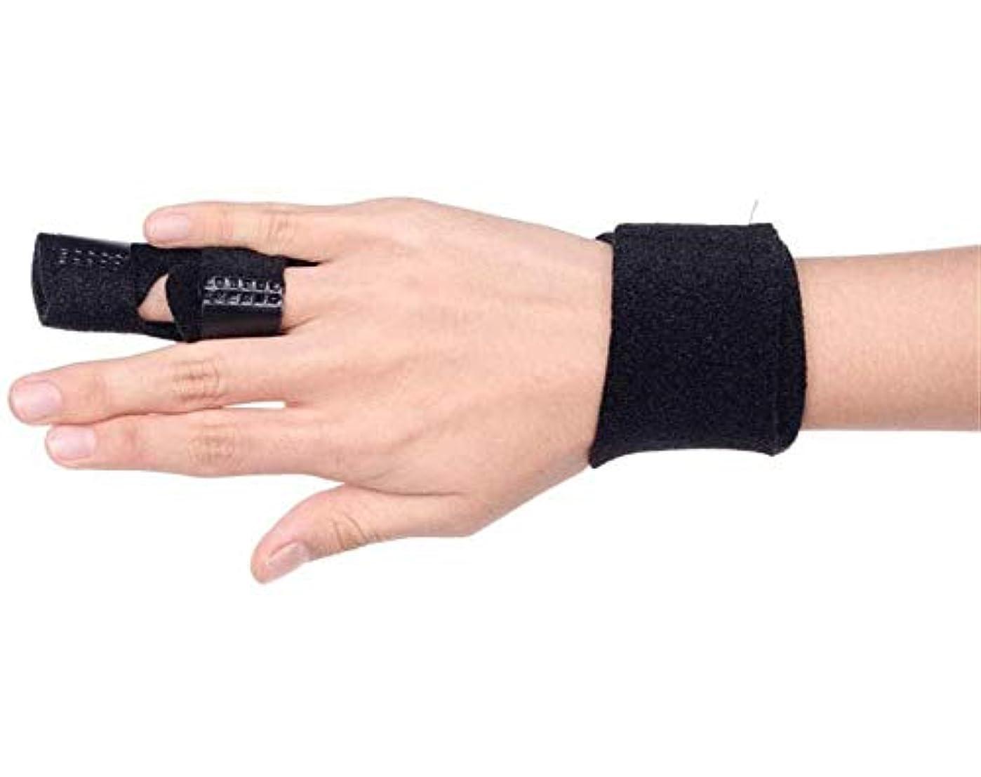 嫉妬スチュアート島無数のベルトリリースや痛みを軽減Fingerboardseparatorを修正アジャスタブル - 中指、薬指、人差し指ブレースのためのスプリント-Fingerインソールフィンガースプリントを指