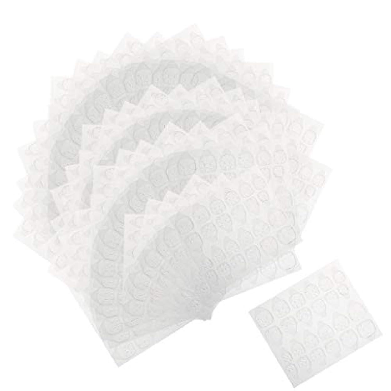 波無臭署名Perfeclan ネイルタブ ネイル接着剤ステッカー マニキュアタブ 両面接着 透明 両面テープ 約240ピースセット